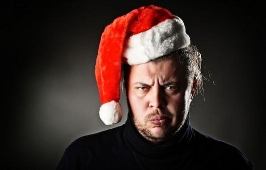 Недовольный Санта Клаус