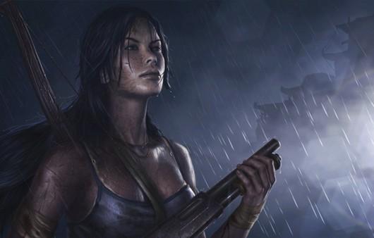 Игра Tomb-Raider,девушка с дробовиком
