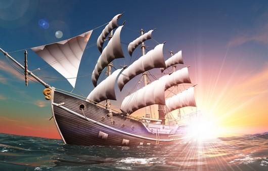 Парусник в открытом море