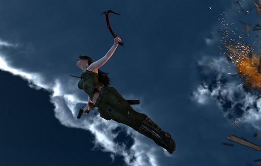 Полёт персонажа Лары Крофт