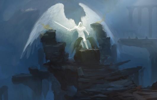 Фотообои Фантастическая картина ангел в капюшоне
