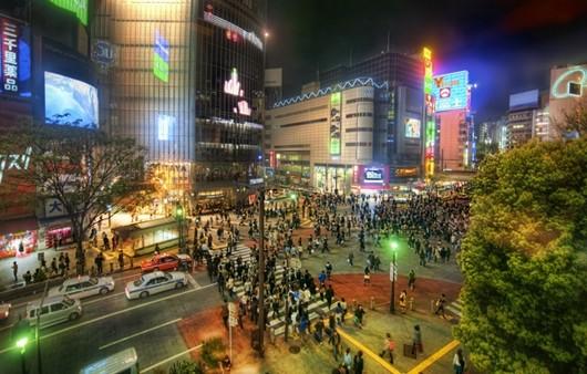 Фотообои Ночные улицы Токио