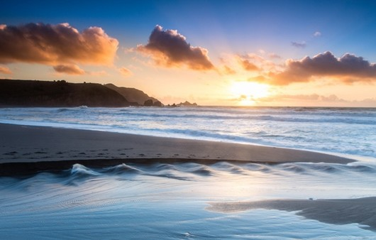 Фотообои Мыс из песка на пляже