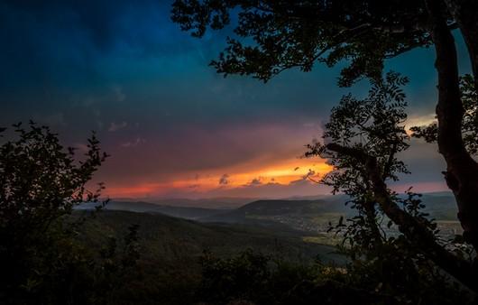Фотообои Закатное небо в горах