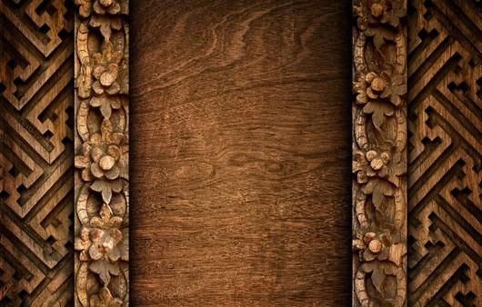 Фотообои Текстура резьба по дереву