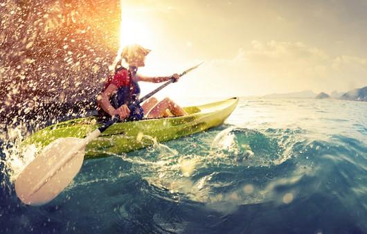 Морской спорт на байдарках