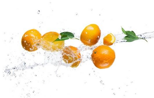 Фотообои Апельсиновые брызги