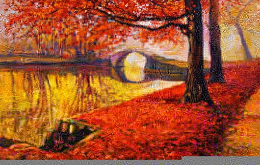 Живописная картина осень