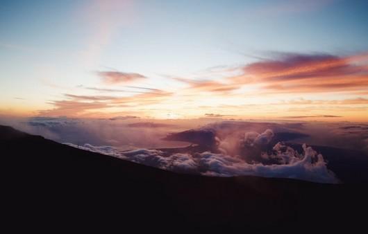 Облачное небо на горизонте
