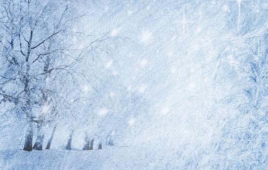 Снежные блики в морозный день