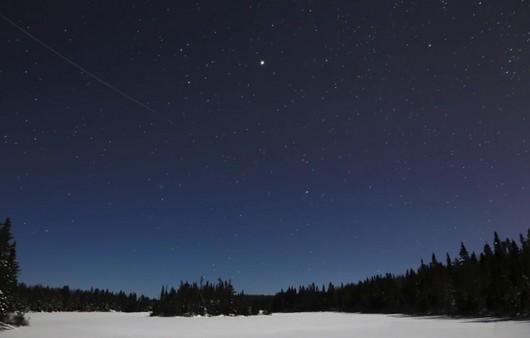 Фотообои Ночное зимнее небо