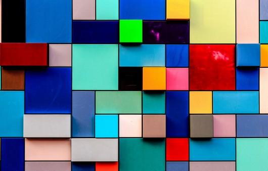 Фотообои Мозаика тетрис из разноцветных прямоугольников