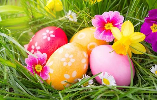 Пасхальные яйца с живыми цветами