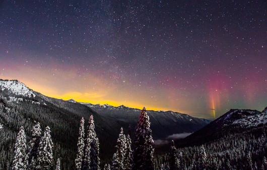 Фотообои Начало восхода в горах