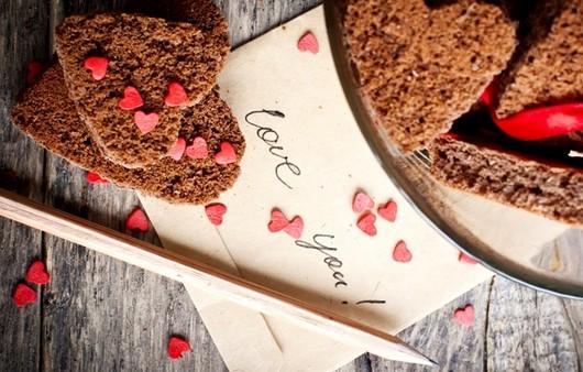 Фотообои Овсяное печенье Валентинки