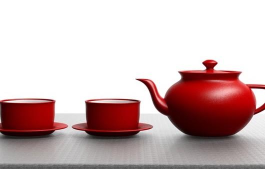 Красный набор для чаепития