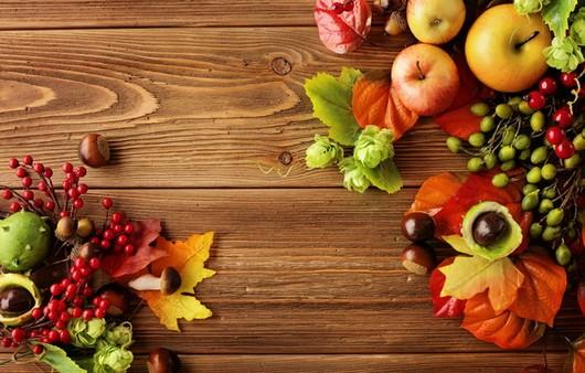 Осенний натюрморт из даров осени