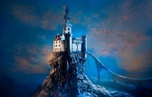 Фантастический замок на скале
