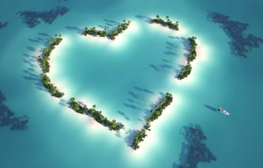 Фотообои Остров в виде сердца
