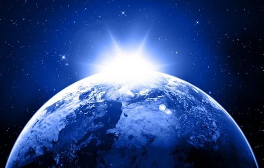 Фотообои На той стороне земли-вид из космоса