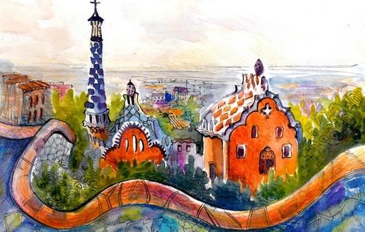 Рисунок игрушечного города