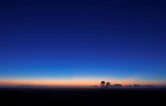 Фотообои Ночное небо с зарёй