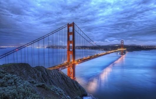 Мост через реку в Сан -Франциско