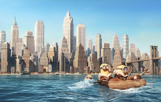 Миньоны в лодке