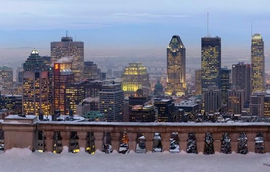 Панорама города с высотки
