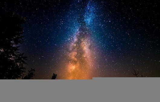 Зимнее звёздное небо в морозный день