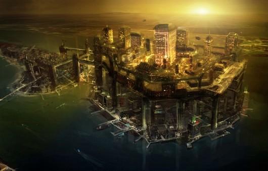 Игра Deus Ex 3 ночной город