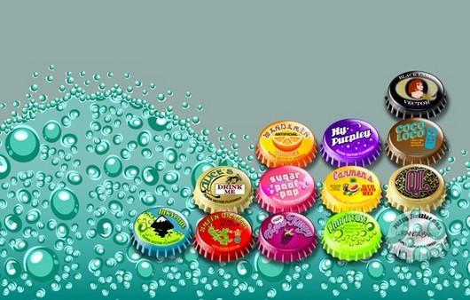 Крышки от прохладительных напитков