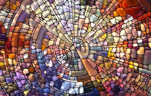 Узор из стекла