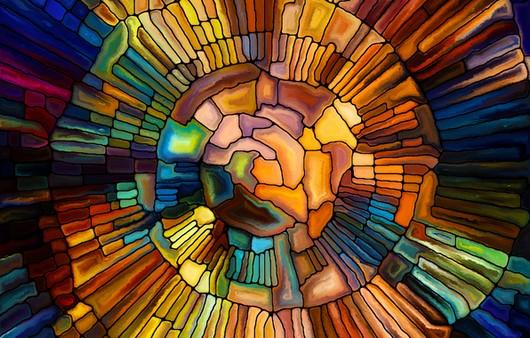 Фотообои мозаика из стекла
