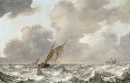Фотообои шторм в море