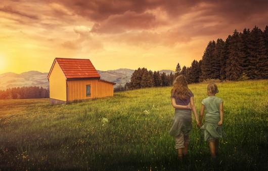 дом на холмах