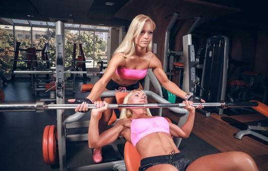 фитнес женщина