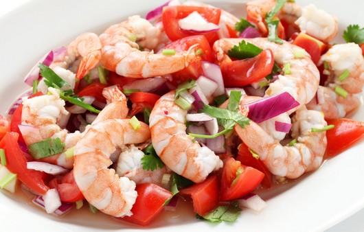салатик с морепродуктами