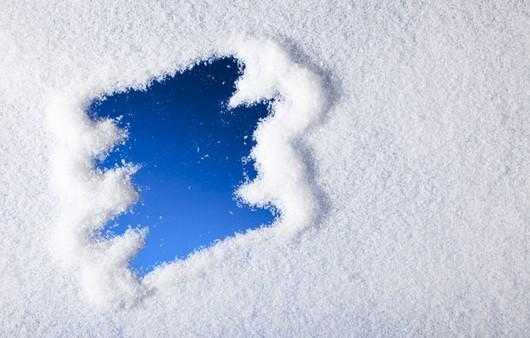 лед в снегу