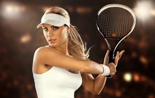 Фотообои девушка играет в теннис