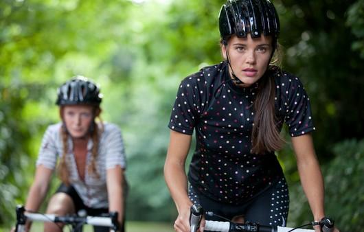 велоспорт в лесу