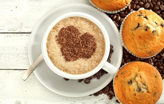 кофе с сердечко