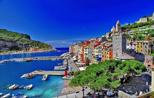 вид на море в Италии