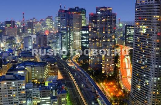 Фотообои Ночной Токио