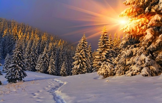 Небо в зимнее время