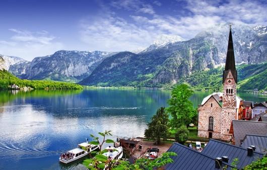 Видна горы в Австрии