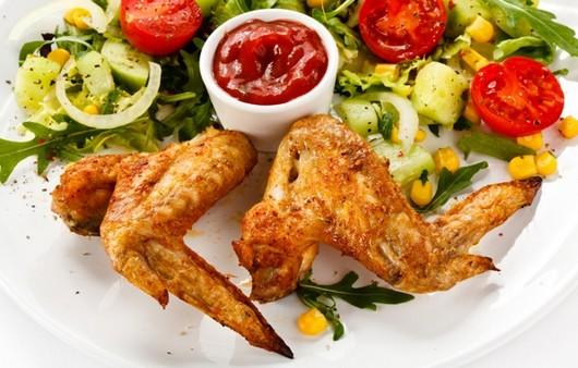 куриные крылышки с кетчупом