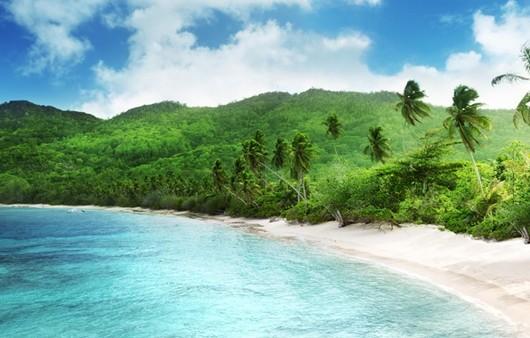 пейзаж пляж на море
