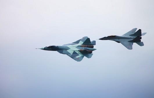 ВВС России T-50 и MiG-29M2