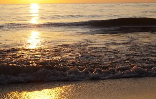 песчаный берег у моря